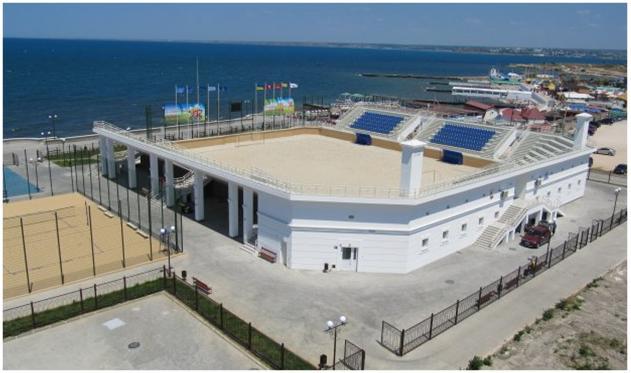 Стадион пляжного футбола.