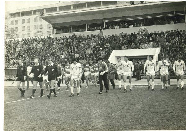 Стадион Чайка. Сборная СССР проводит игру со сборной Турции