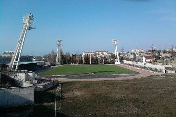 Старый стадион СК Севастополь. Общий вид.