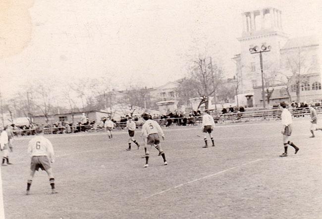 Стадион Чайка в шестидесятых годах.