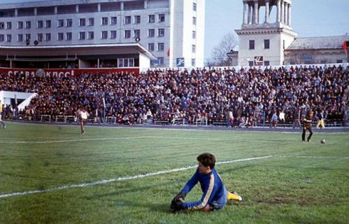 Стадион Чайка. Перед началом матча