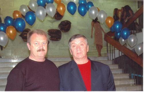 Вице-Президенты Клуба Евгений Репенков и Виктор Мамалыга. 2002 г.