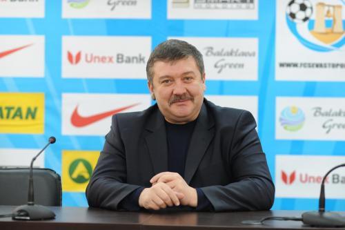 Генеральный директор ФК Севастополь Виктор Москвитин с 2013 г.
