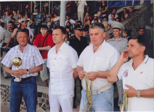 На награждении вместе с тренером сборной национальной команды Украины Мироном Маркевичем.