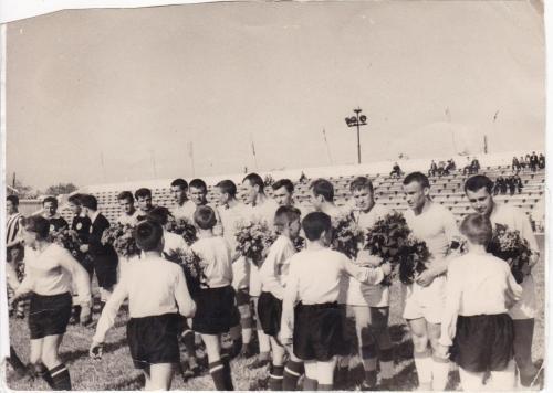 Товарищеская игра с командой ВМС Югославии. Стадион СКЧФ. 1965 г.