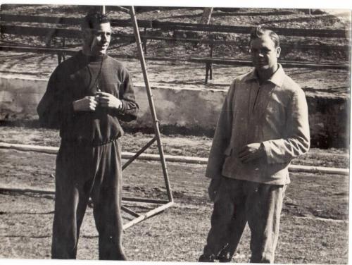 Тренеры. Юрий Михайлович Букасов и Ермолаев Михаил Иванович. 1968 год.