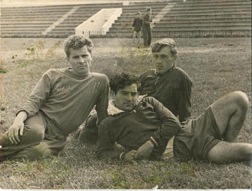 Ильин Н. Литвинов В. Ованесов В. на флотском стадионе