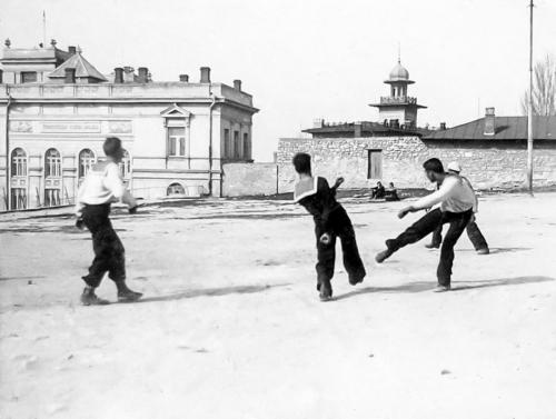 Футбол на Приморском 20-е годы.