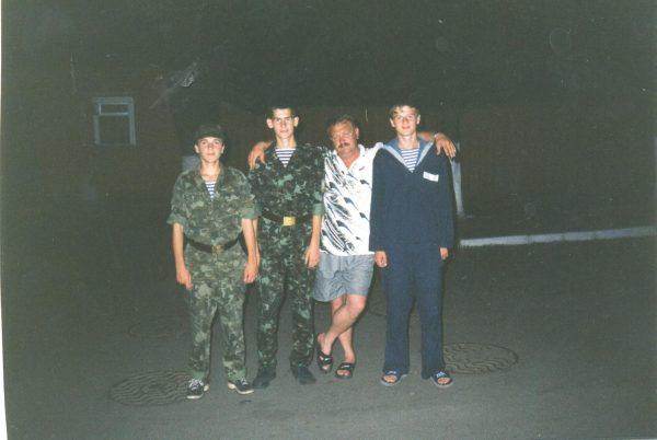 Чемпионат ВС Украины. 1999 год. Киев. Мацина, Шишкин, Евгеньич, Хлебин.