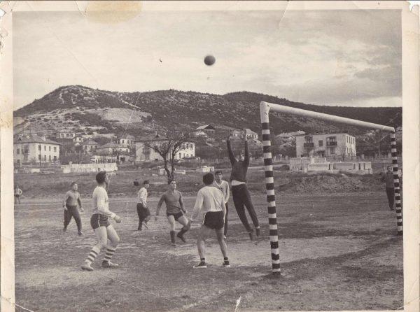 Стадион Инкерман Тренировка команды Строитель ИЗСМ 1969 г.