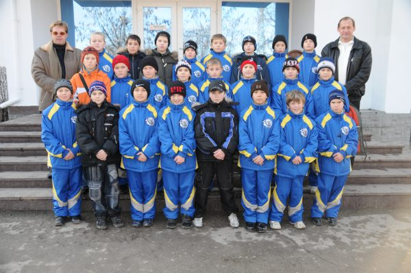 Александр Михеев со своей командой.