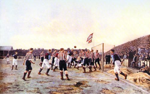 Thomas Hemy Sunderland v Aston Villa 1895 A Corner Kick